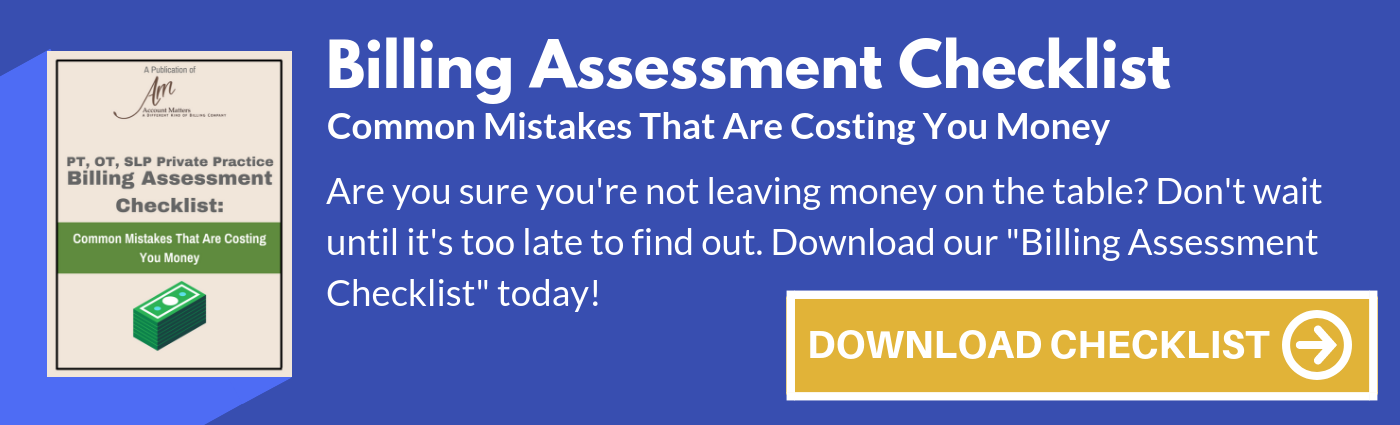 PT Billing Assessment Checklist